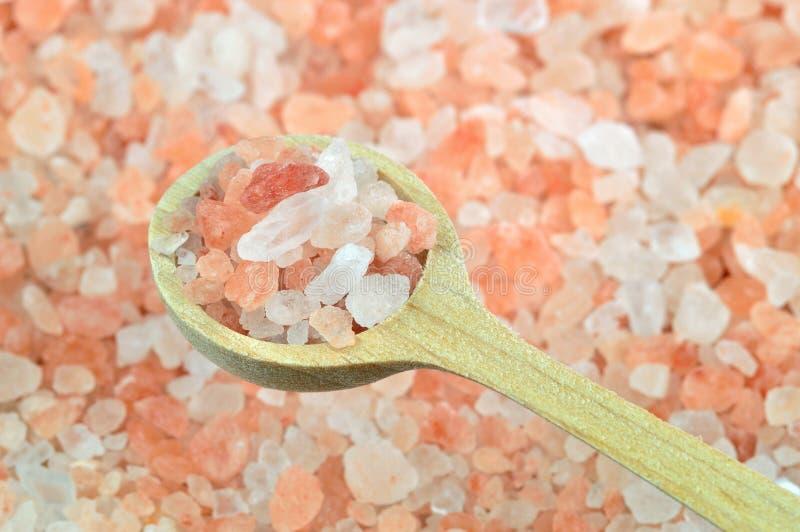 Rosa färg som är salt från Himalayaen arkivbild