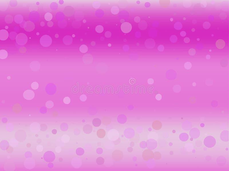 Rosa färg-violett lutningbakgrund med bokeheffekt Abstrakt suddig modell Ljus bakgrundsvektorillustration royaltyfri illustrationer