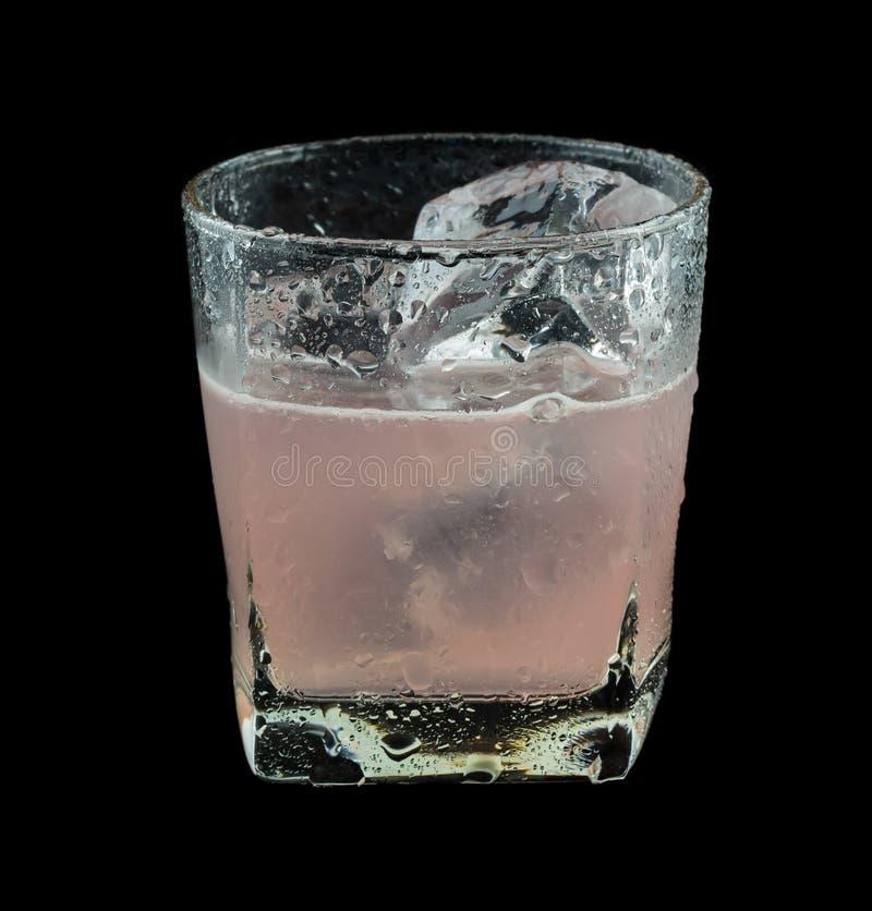 Rosa färgdrinkAbsolut tromb arkivbild