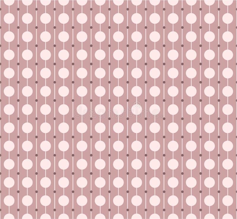 Rosa färgen pricker den sömlösa modellen också vektor för coreldrawillustration royaltyfri illustrationer