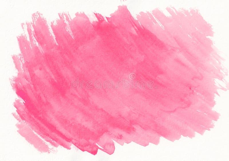 Rosa färger eller rosa slaglängder för vattenfärglutningborste Härlig abstrakt bakgrund för formgivare, modeller, inbjudningar royaltyfri illustrationer