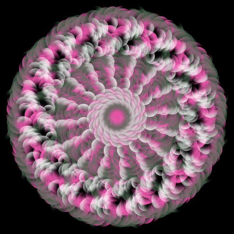 Rosa färger för genomskinlig kombination för blomma genomskinliga vita vektor illustrationer