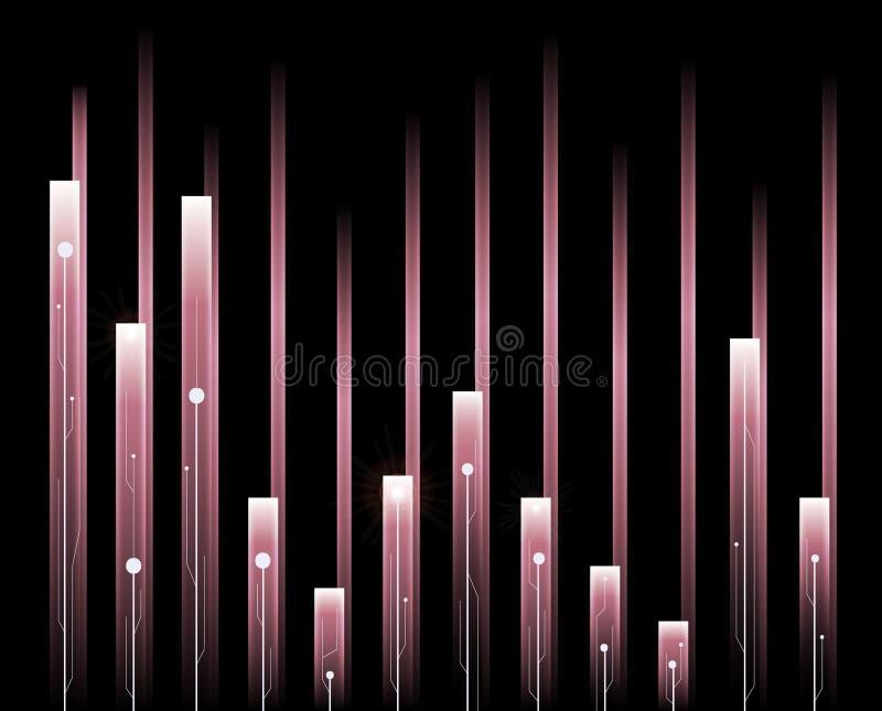 Rosa färger för solid våg stock illustrationer