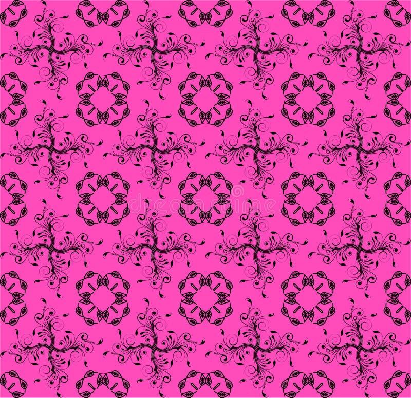 Rosa färger för vit färg för förälskelsetemamodell mjuka stock illustrationer