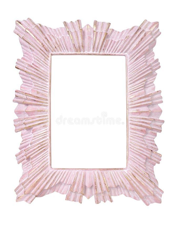 Rosa färger inramar på vit arkivfoto