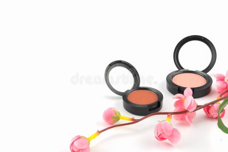 Rosa färger och den orange rodnaden som dekoreras med, fejkar rosa färgblommafilialer arkivbilder