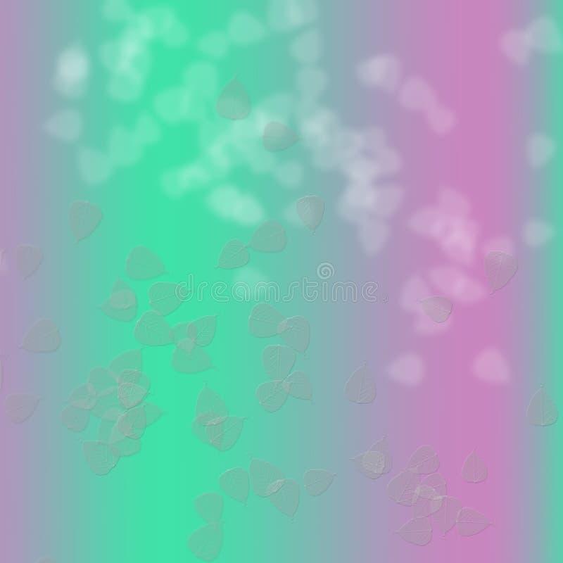 Rosa färger och gräsplan i abstrakt bakgrund royaltyfri illustrationer