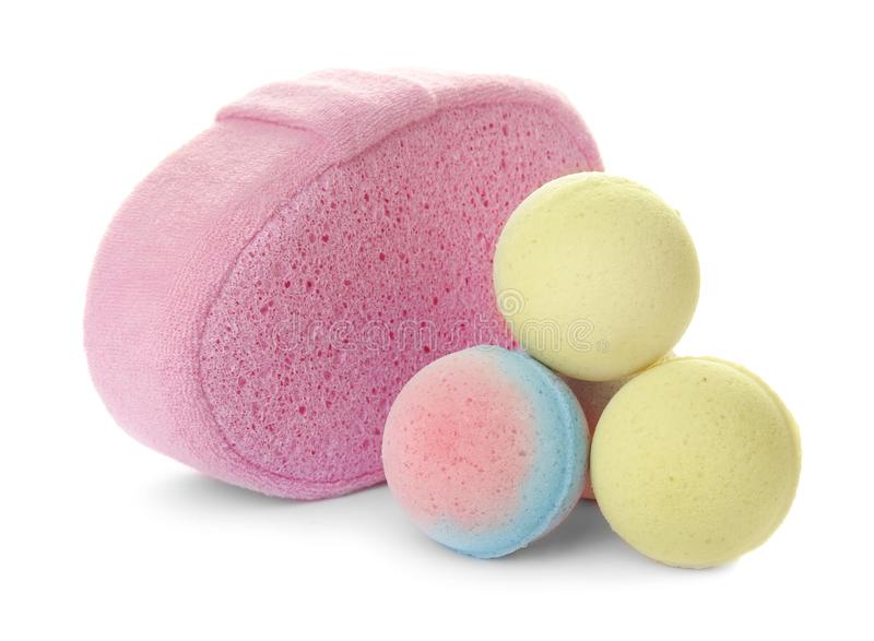 Rosa färger snyltar, och badet bombarderar royaltyfri bild