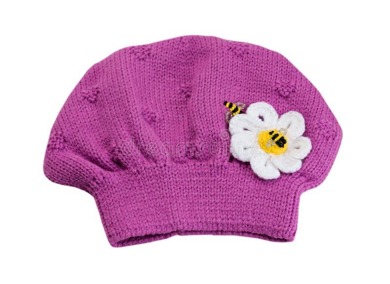 Rosa färger stucken hattbasker royaltyfria foton