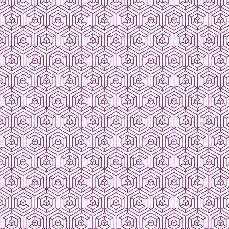 Rosa färgfärg Diamond Pattern Background Design royaltyfri illustrationer