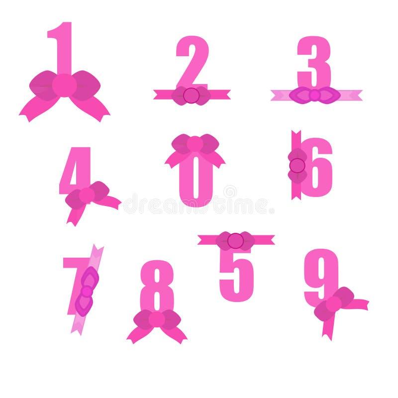 Rosa färgnummer royaltyfri illustrationer