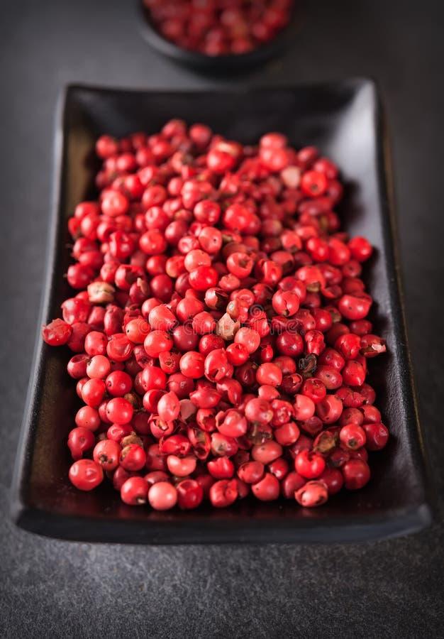 Rosa färgpeppar, brasiliansk peppar arkivbild