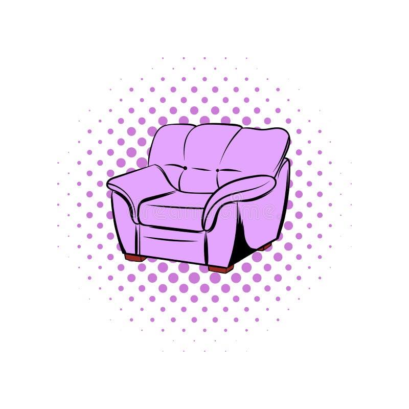 Rosa fåtöljkomikersymbol vektor illustrationer