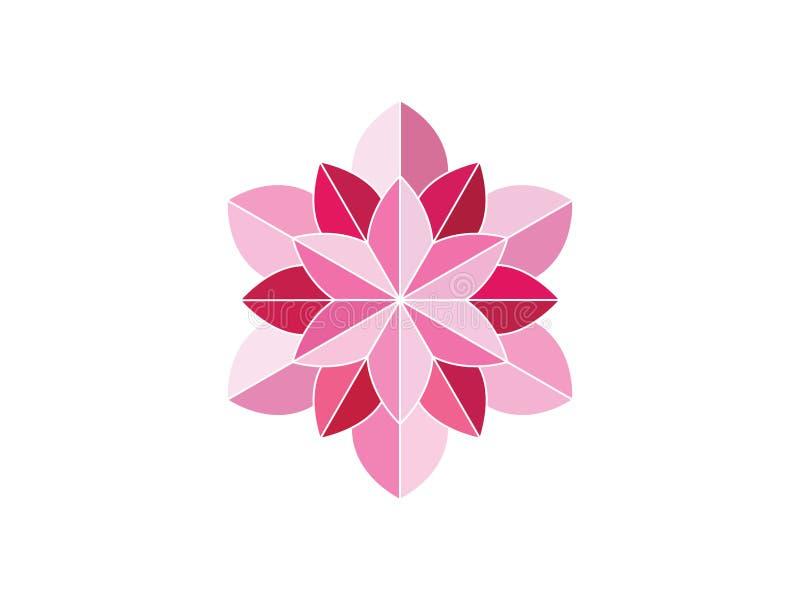 Rosa f?rgblommaprydnad vektor illustrationer