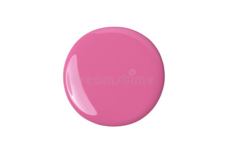 Rosa Farbe auf Weiß lizenzfreie stockfotografie