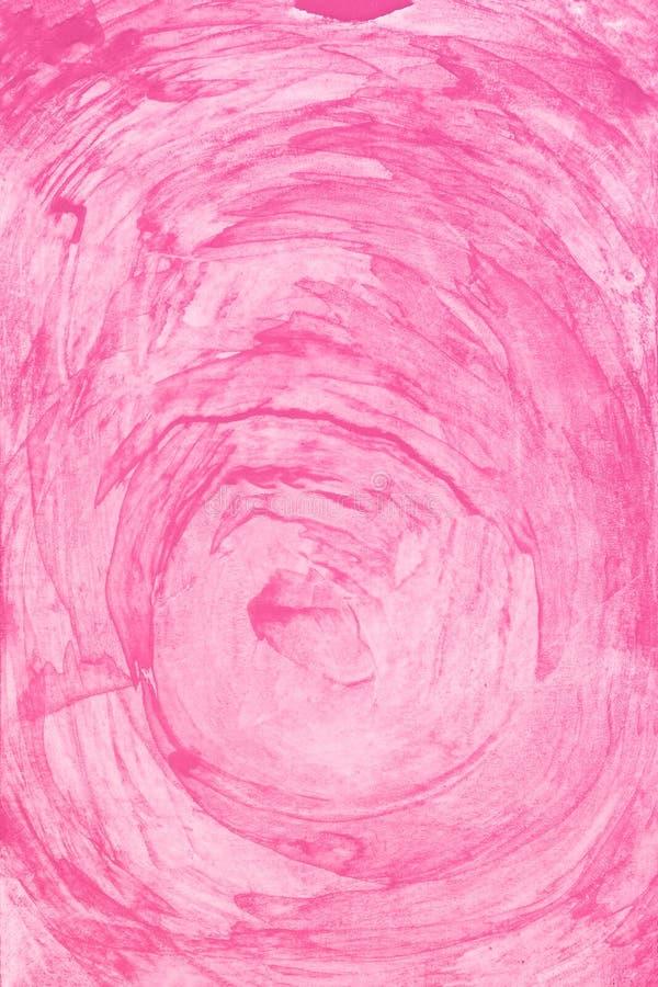 Rosa Farbenhintergrund des Aquarells Magische Hand der Kunst gezeichnet stockfotografie