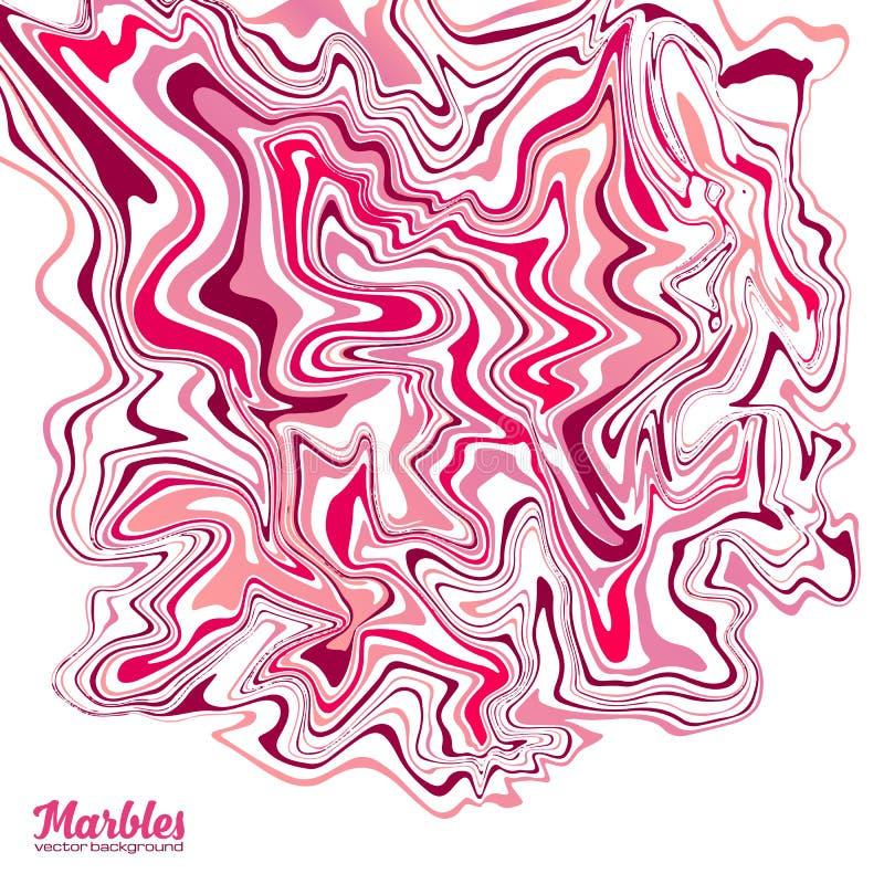 Rosa Farbvektormarmoreffekt-Zusammenfassungshintergrund stock abbildung
