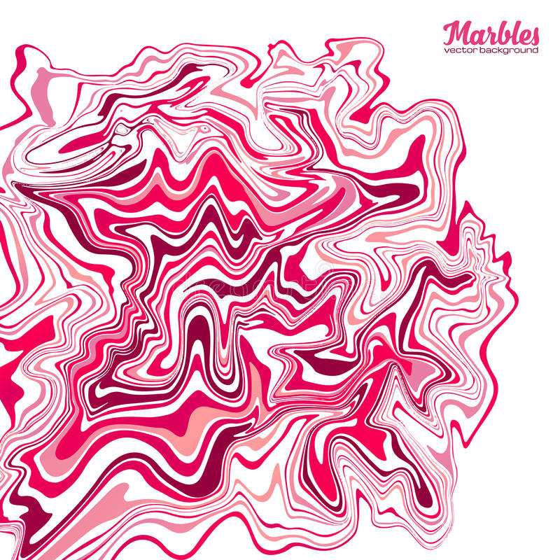 Rosa Farbvektormarmoreffekt-Zusammenfassungshintergrund lizenzfreie abbildung