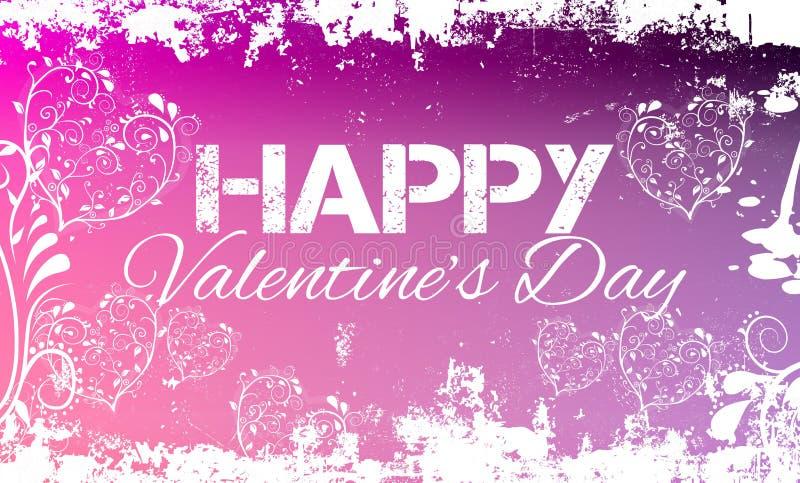 Rosa feliz del Grunge del día de tarjetas del día de San Valentín fotografía de archivo libre de regalías