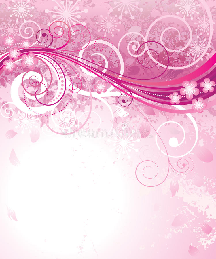 rosa fjäder stock illustrationer