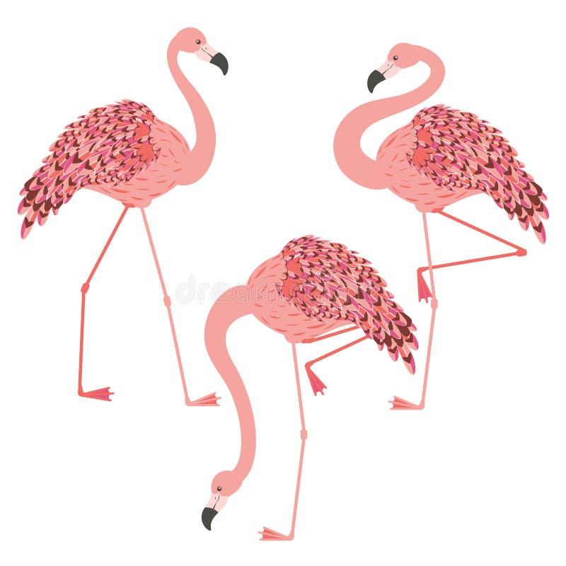 Rosa Flamingoentwurf lizenzfreie abbildung