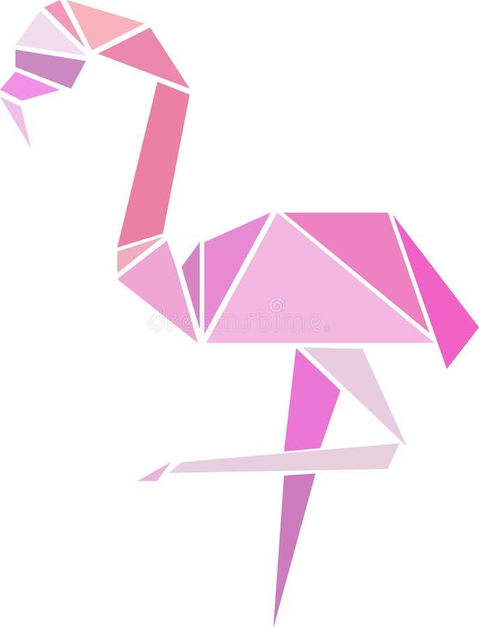 Rosa Flamingovektor illusration lizenzfreie stockbilder