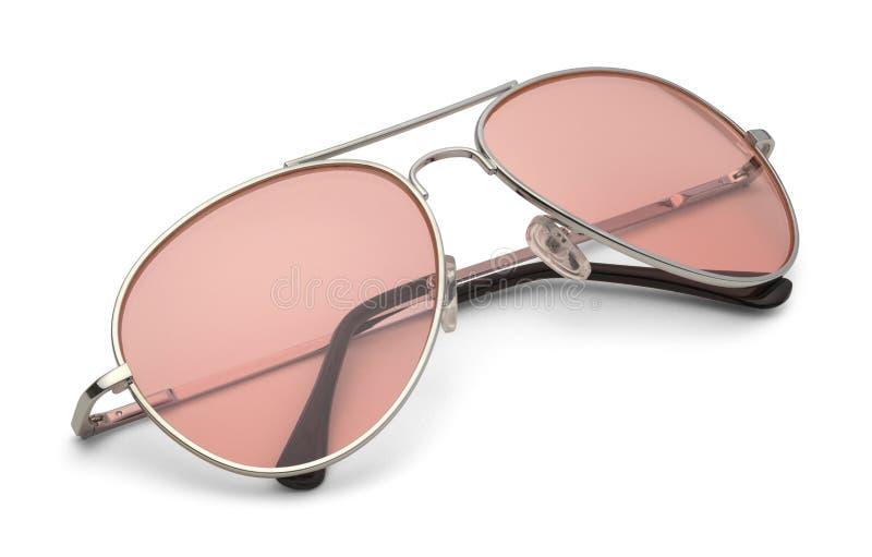 Rosa Flieger Glasses stockbild