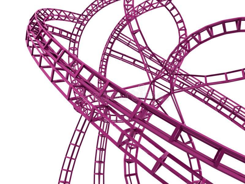 Rosa framfört konstruktionsbegrepp vektor illustrationer