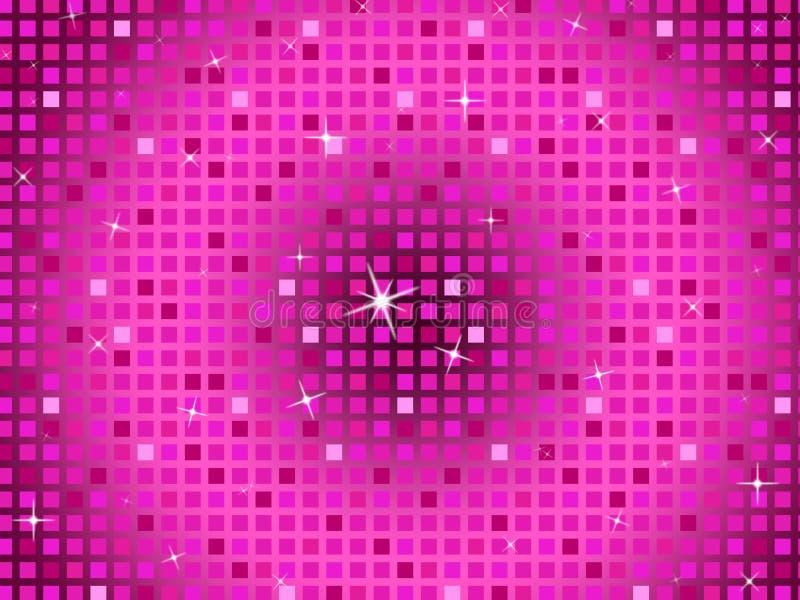 Rosa fyrkantbakgrundshjälpmedel som blinkar modellen och partiet royaltyfri illustrationer