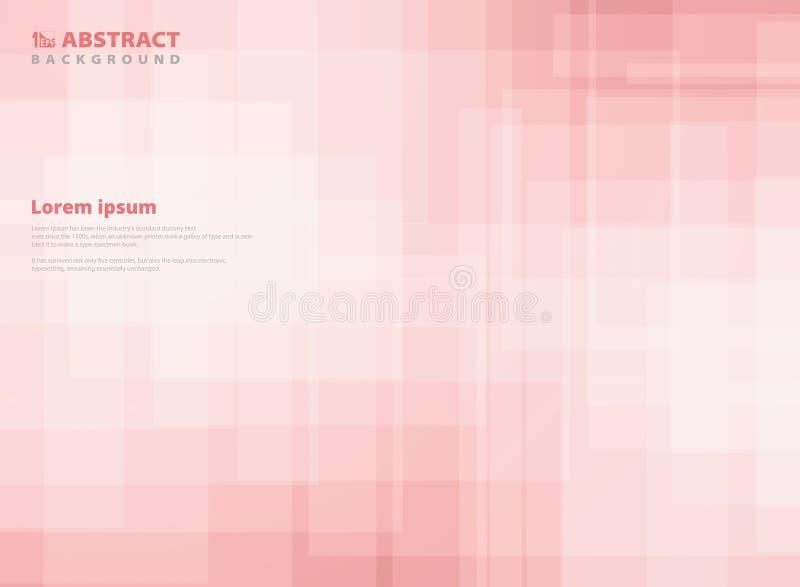 Rosa fyrkantig modellbakgrund för abstrakt lutning Du kan använda för pappersdesignen, annonsen, affischen, trycket, räkning vektor illustrationer
