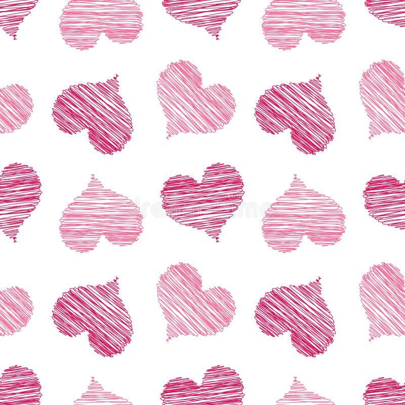 Rosa gekritzeltes Inner-Muster lizenzfreie abbildung