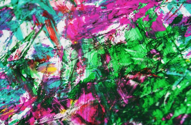 Rosa gelbes weißes Blau unscharfes weiches malendes backround, abstrakter Malereiaquarellhintergrund vektor abbildung