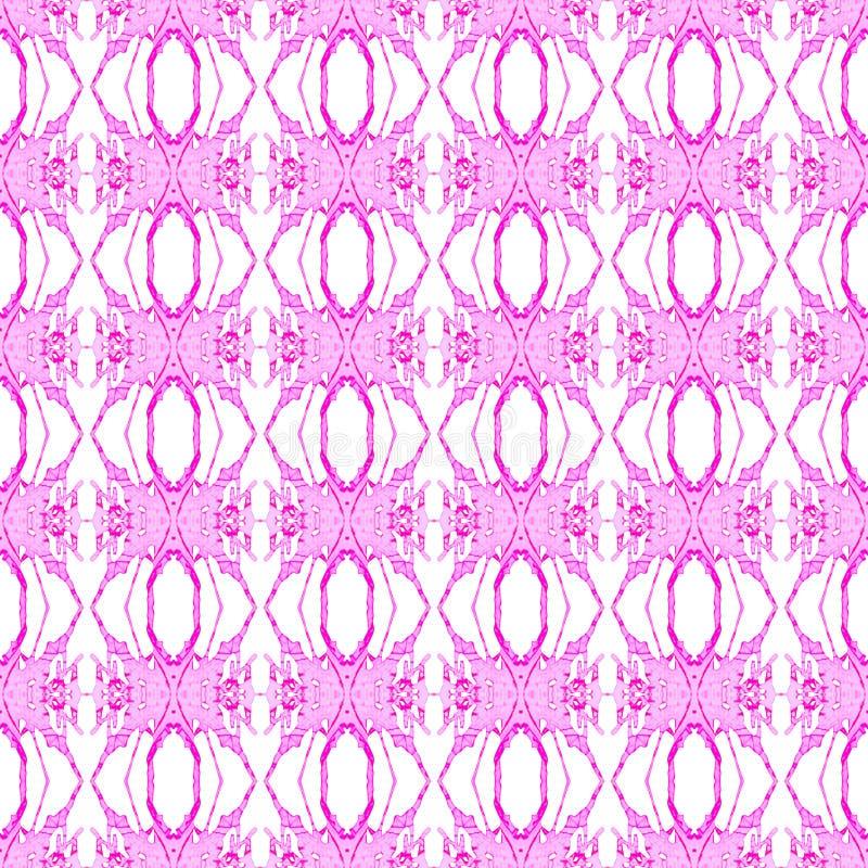 Rosa geometrisches nahtloses Muster Handgezogenes waterc lizenzfreie abbildung