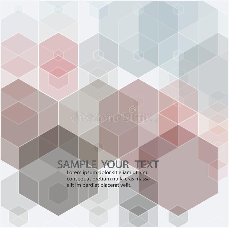 Rosa Gitter-Mosaik-Hintergrund, kreative Entwurfs-Schablonen vektor abbildung