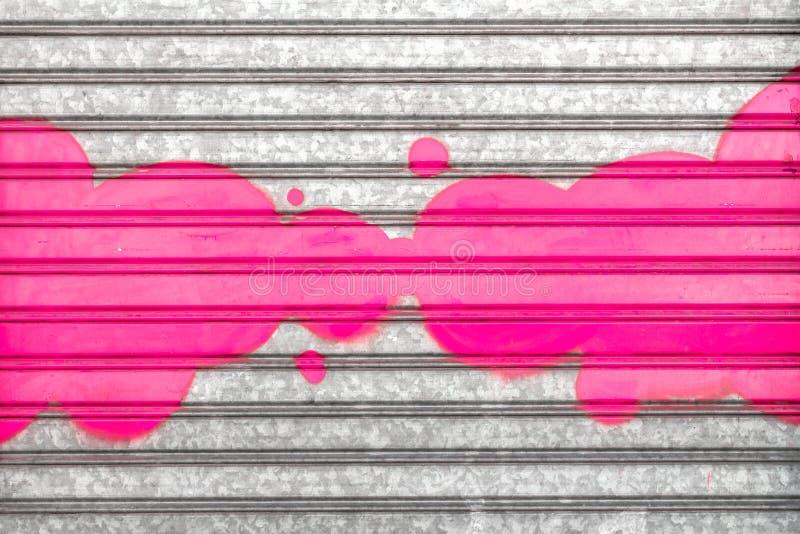 Rosa Graffiti stockfotografie