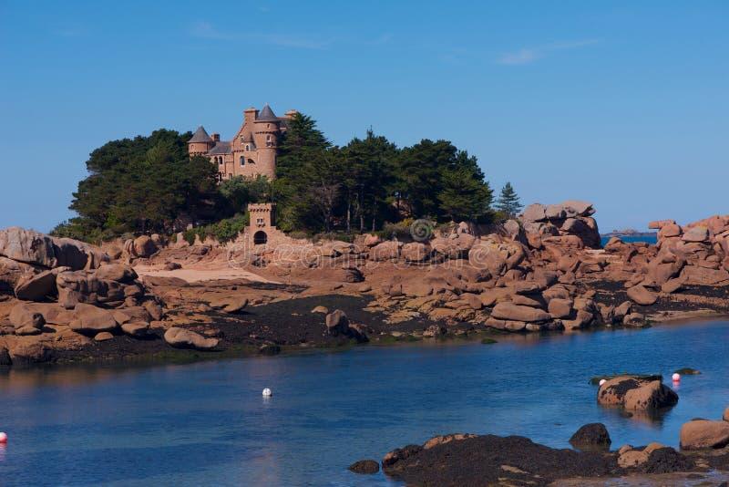 Rosa Granit-Küste stockfoto