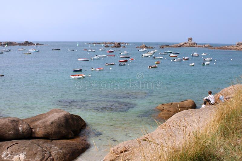 Rosa Granit-Küste lizenzfreies stockbild