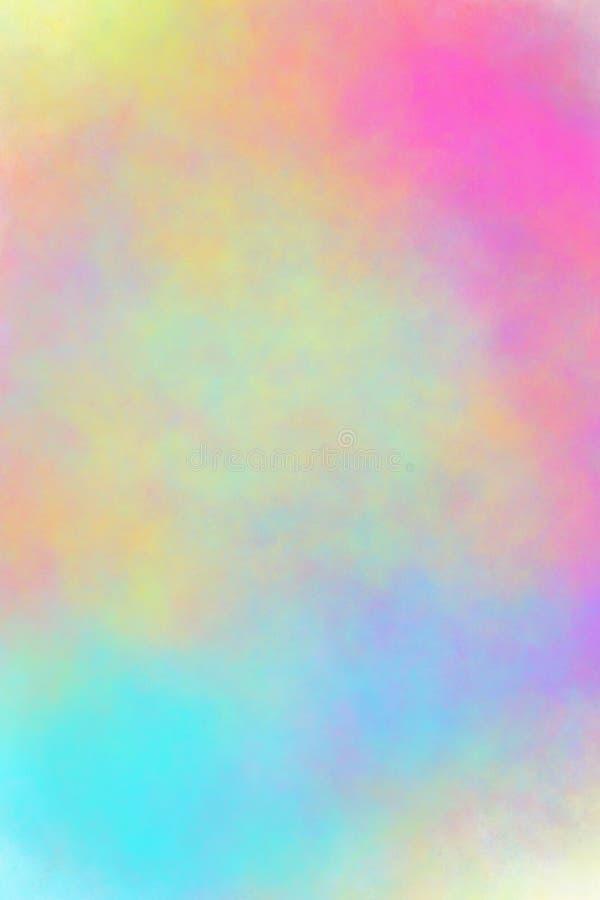 Rosa gul grön blå suddighetsbakgrund royaltyfria foton