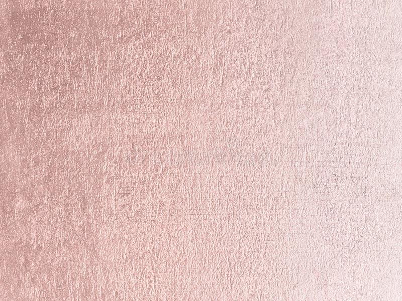 Rosa guld- bakgrund Rose Gold metallisk textur Moderiktig templat royaltyfri bild