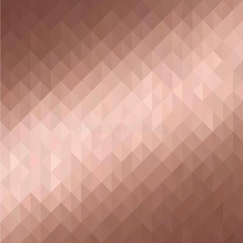 Rosa guld- geometrisk bakgrund fotografering för bildbyråer