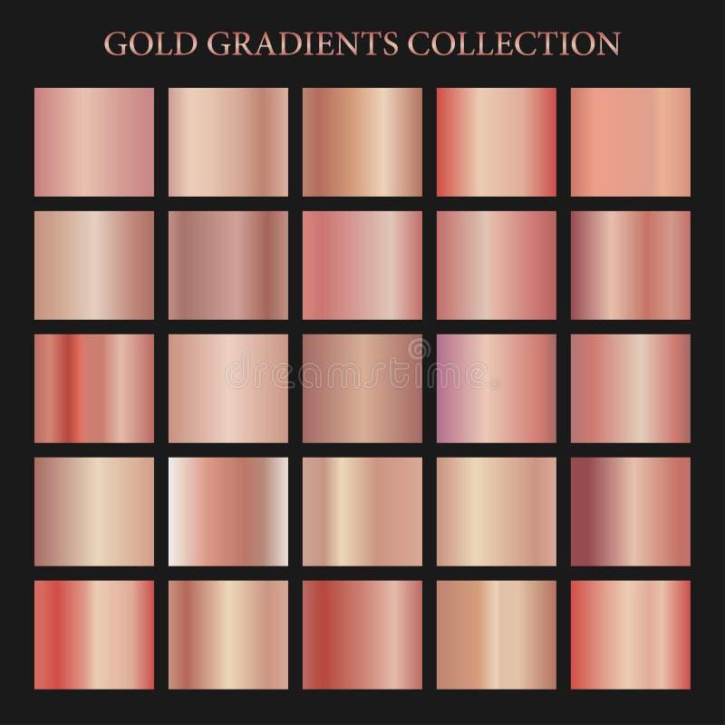 Rosa guld- lutningsamling för modedesign också vektor för coreldrawillustration vektor illustrationer