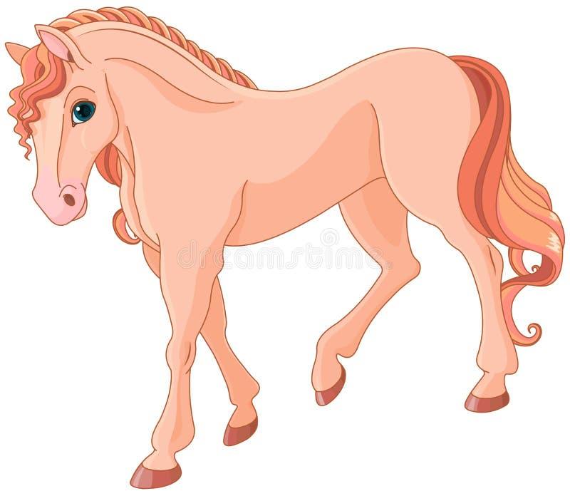 Rosa häst royaltyfri illustrationer