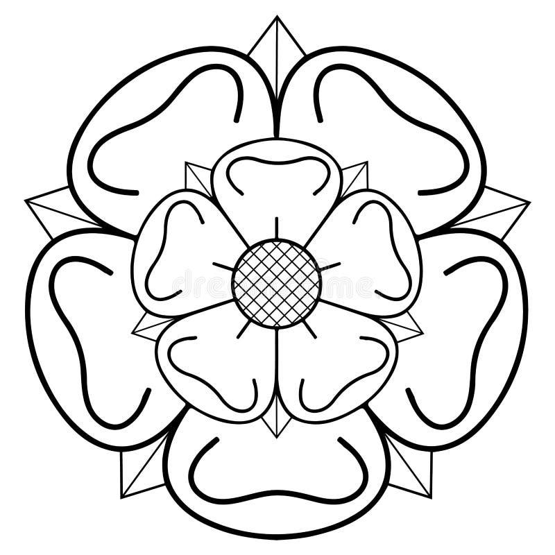 Rosa heráldica libre illustration