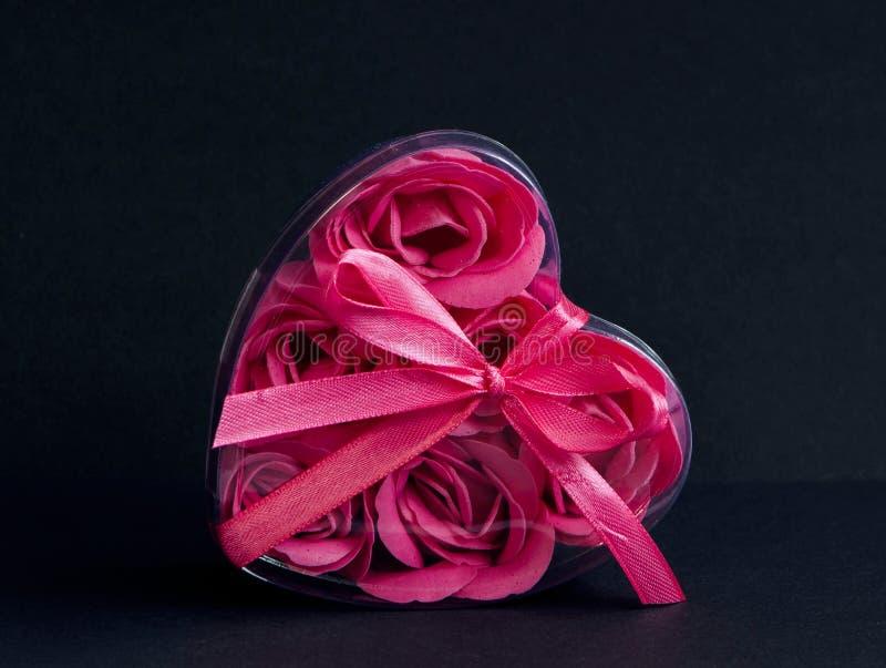 Rosa Herz stockbild