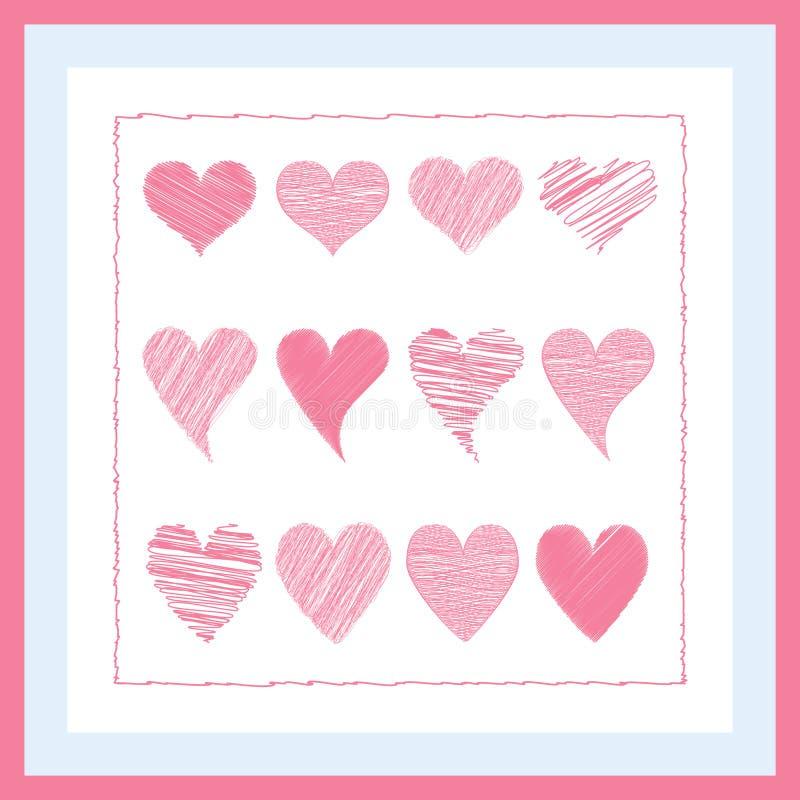 Rosa Herz gemalt stockbilder