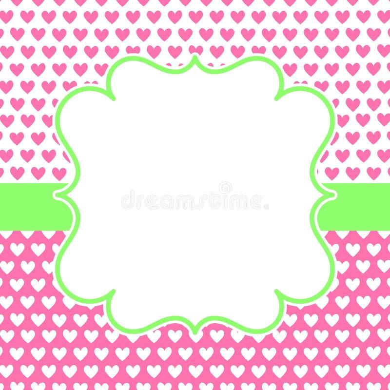 Rosa Herz-Süßigkeits-Kasten-Valentinsgruß-Tageskarte vektor abbildung