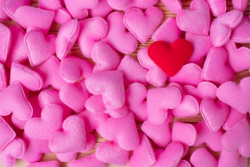 Rosa Herzform-Dekorationshintergrund Der Hochzeit, romantischen und glücklichen Tagesfeiertagskonzept Valentine' s der Liebe, stockbild