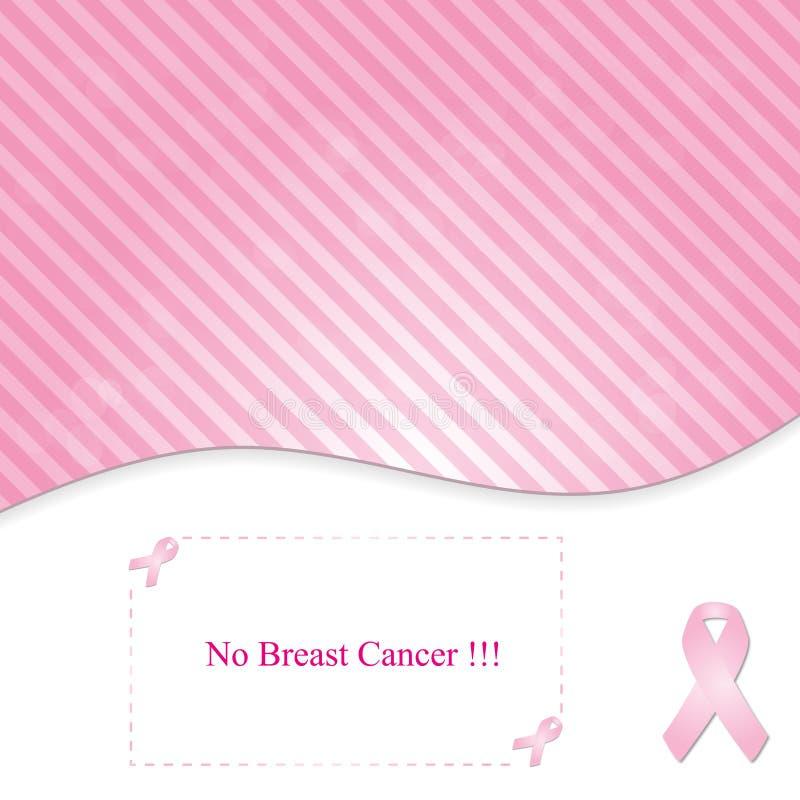 Rosa Hintergrund im Linie-zu-tägigen Brustkrebsband lizenzfreie abbildung