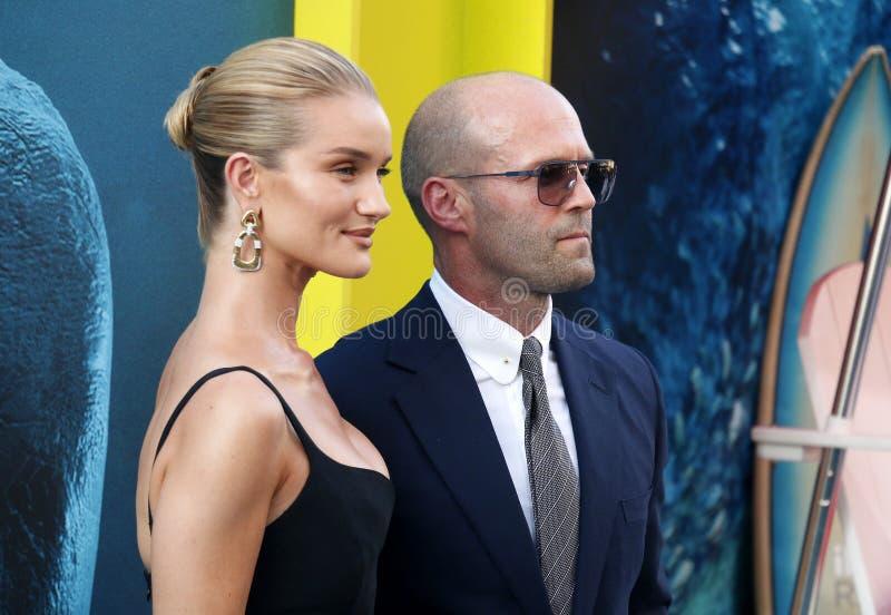 Rosa huntington i Jason Statham fotografia royalty free