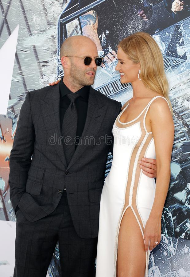 Rosa huntington i Jason Statham zdjęcie stock